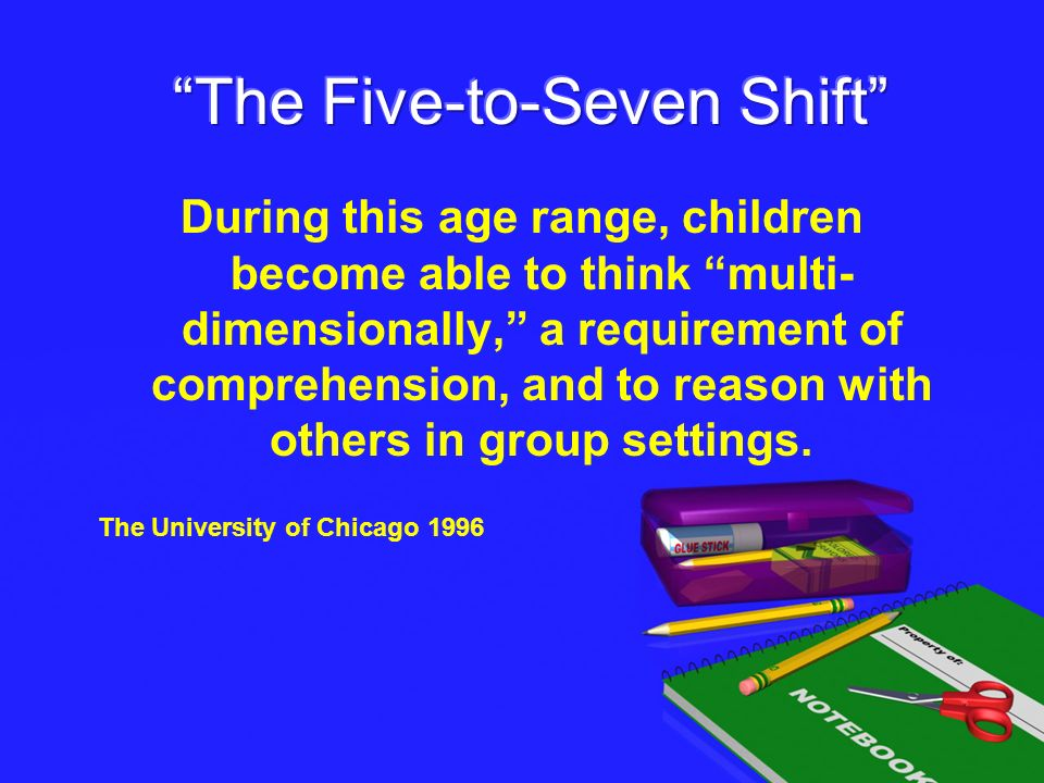 The Five-to-Seven Shift