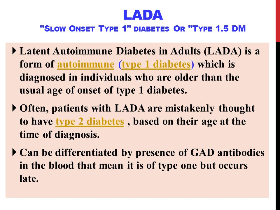 adults Latent autoimmune diabetes