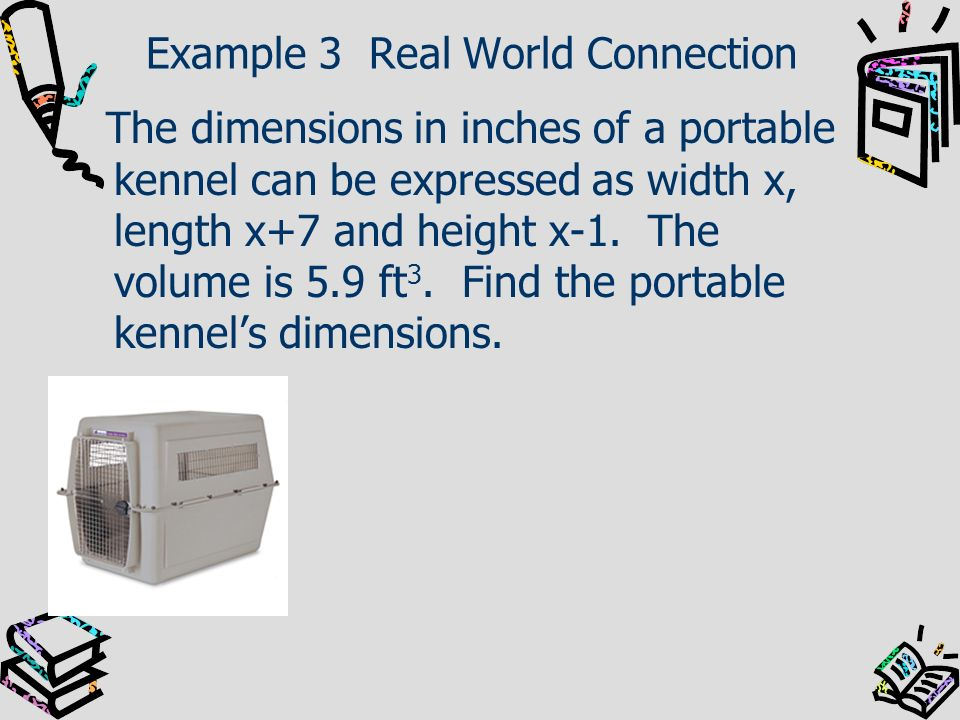 Example 3 Real World Connection