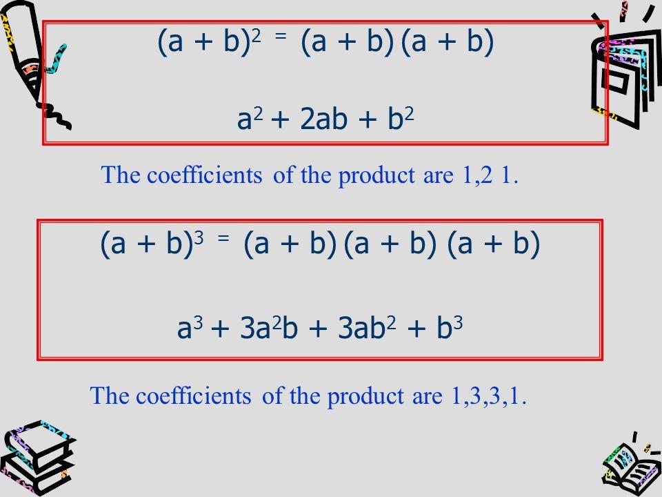 (a + b)3 = (a + b) (a + b) (a + b)