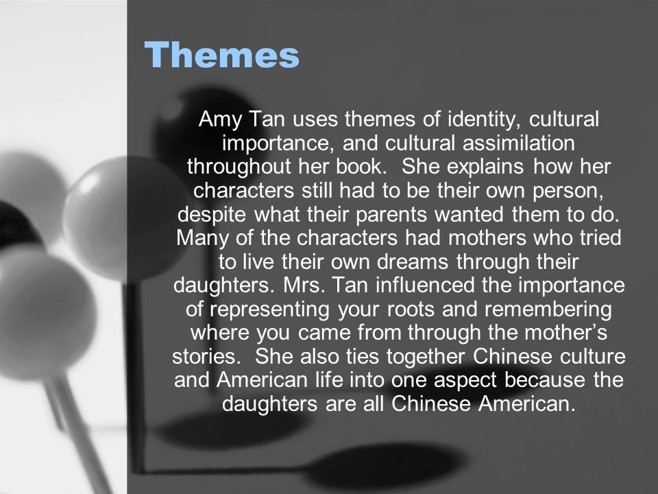 the theme of identity crisis in joy luck club by amy tan