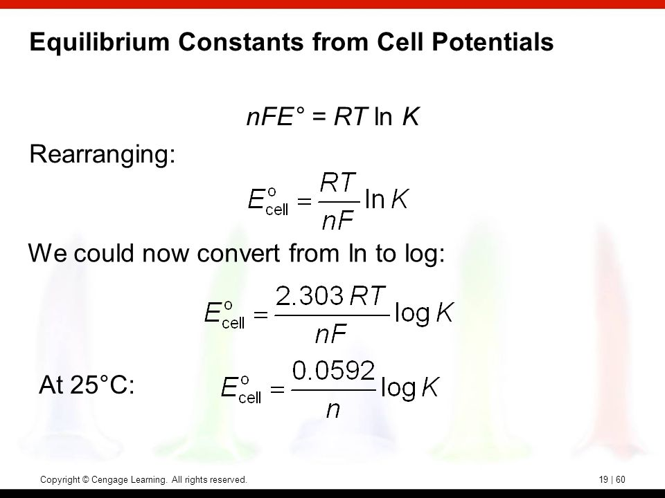 determining standard reduction potentials equilibrium constants Standard apparent reduction potentials e' degrees of half reactions of enzyme- catalyzed  this table can be used to calculate apparent equilibrium constants.