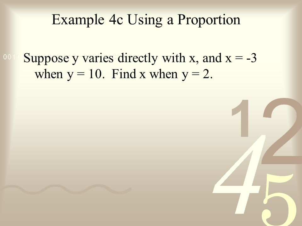 Example 4c Using a Proportion