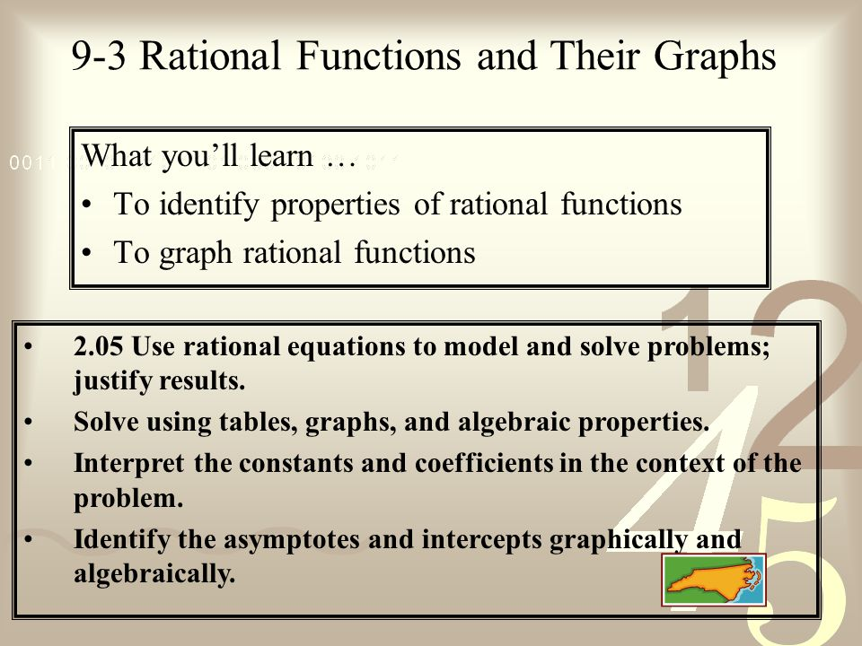9-3 Rational Functions and Their Graphs