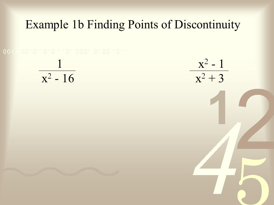 Example 1b Finding Points of Discontinuity