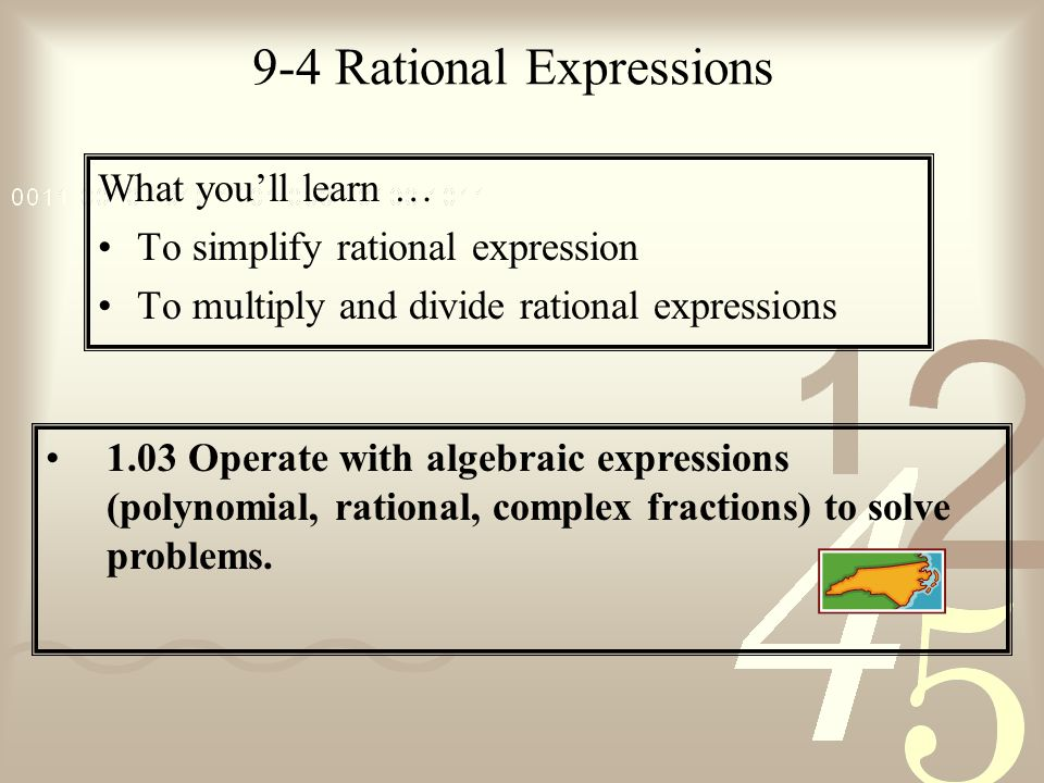 9-4 Rational Expressions