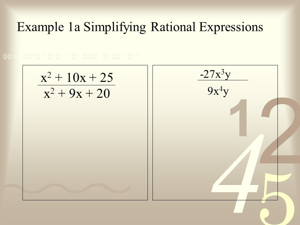 Example 1a Simplifying Rational Expressions