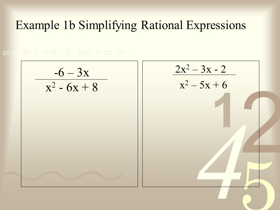 Example 1b Simplifying Rational Expressions