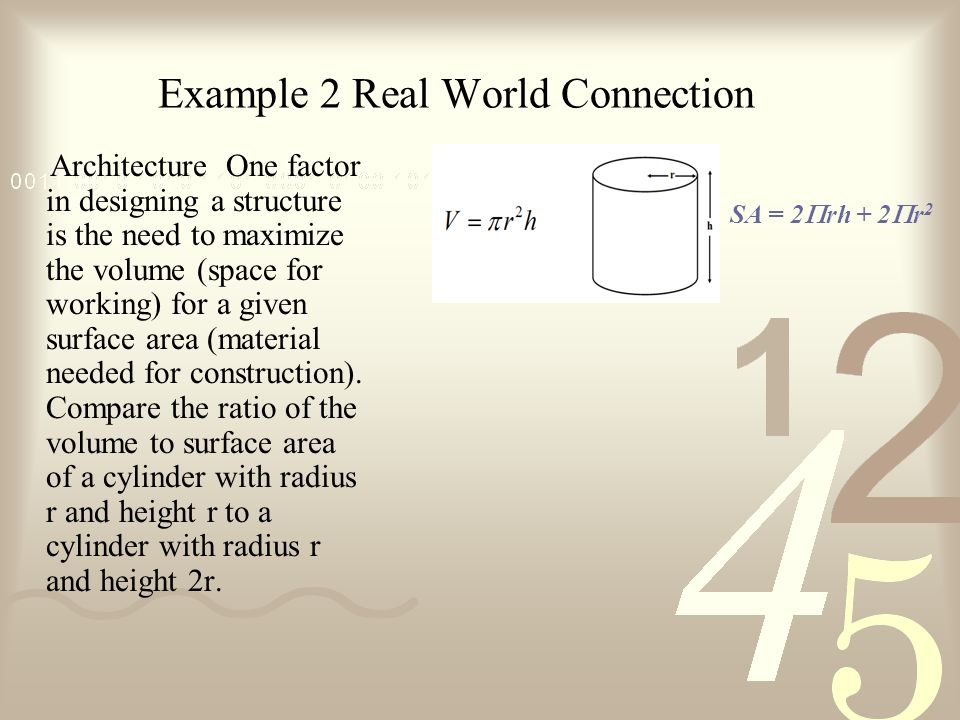 Example 2 Real World Connection