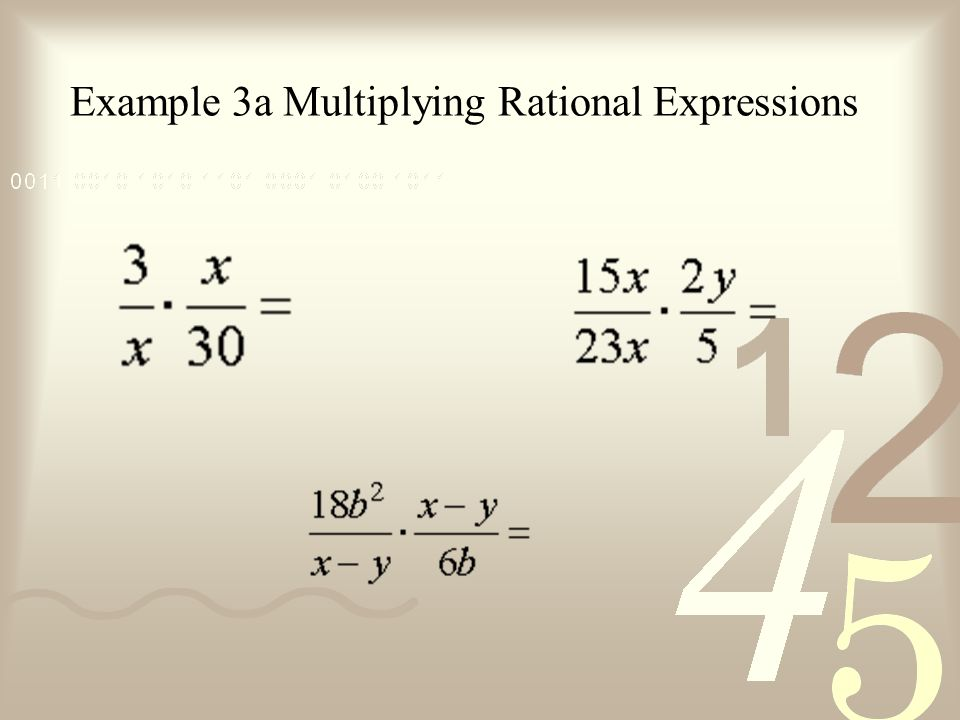 Example 3a Multiplying Rational Expressions