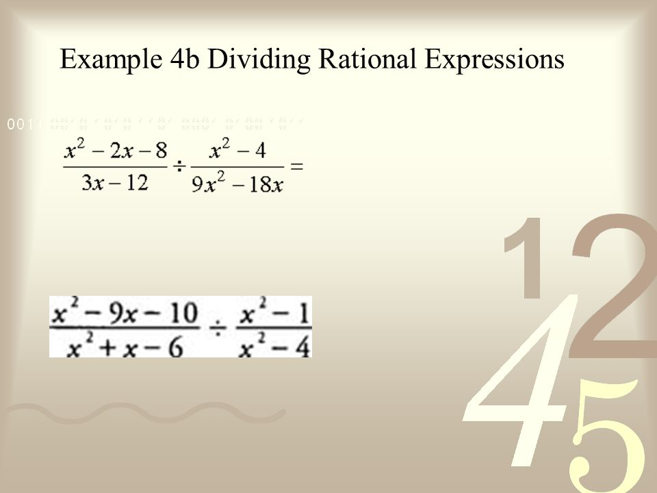Example 4b Dividing Rational Expressions
