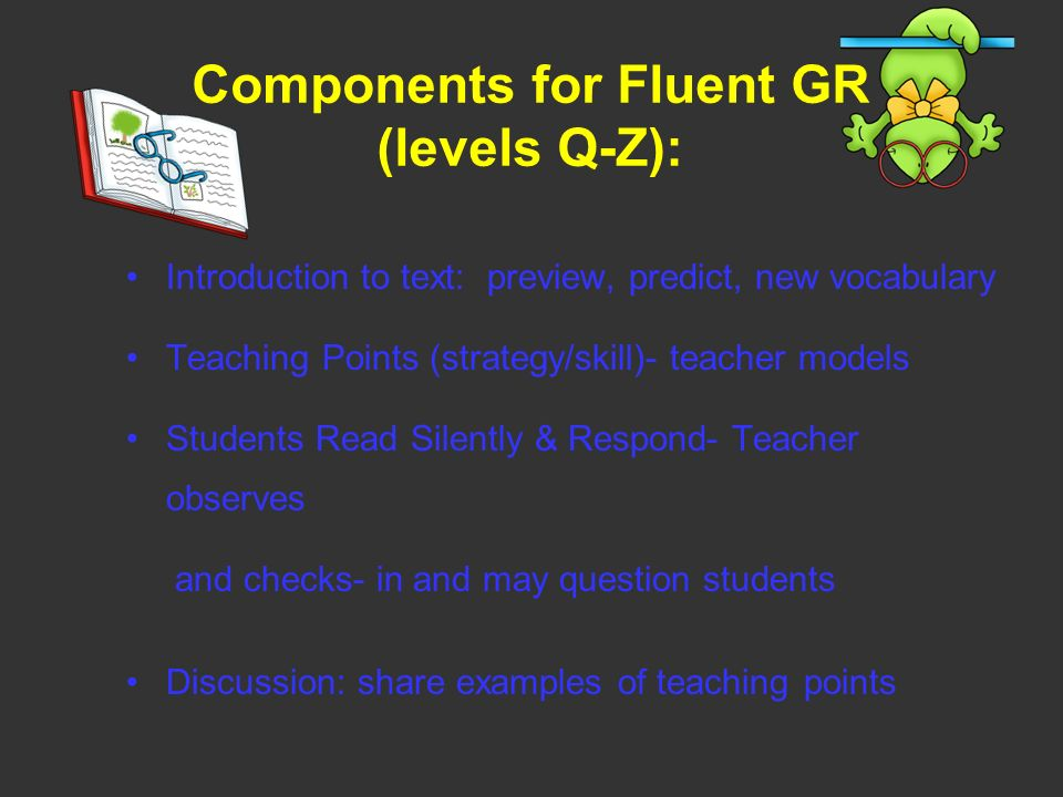 Components for Fluent GR (levels Q-Z):