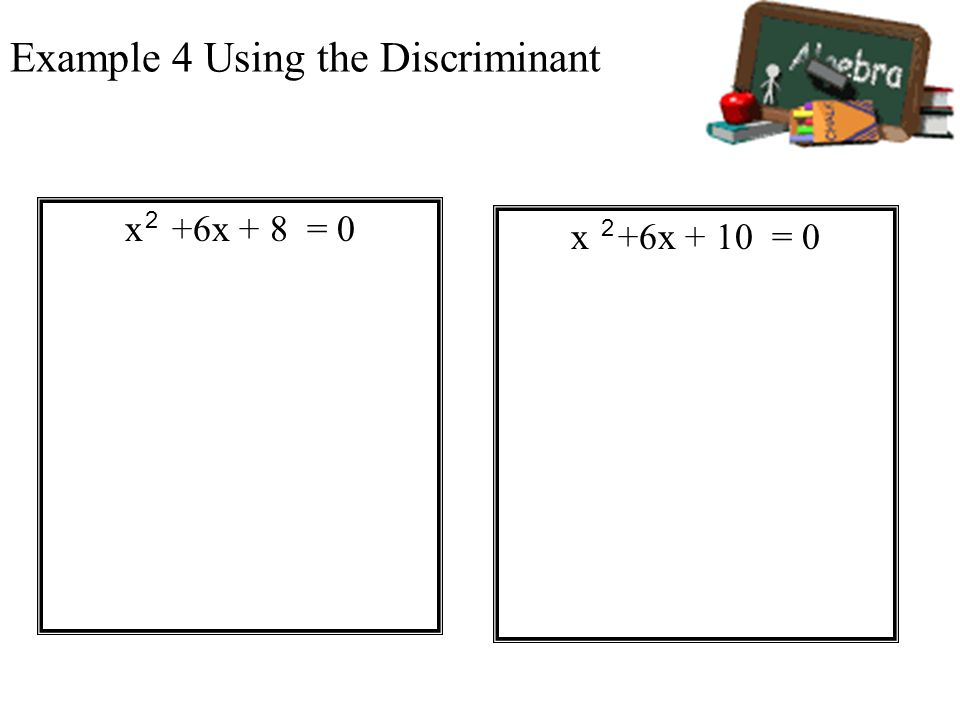 Example 4 Using the Discriminant