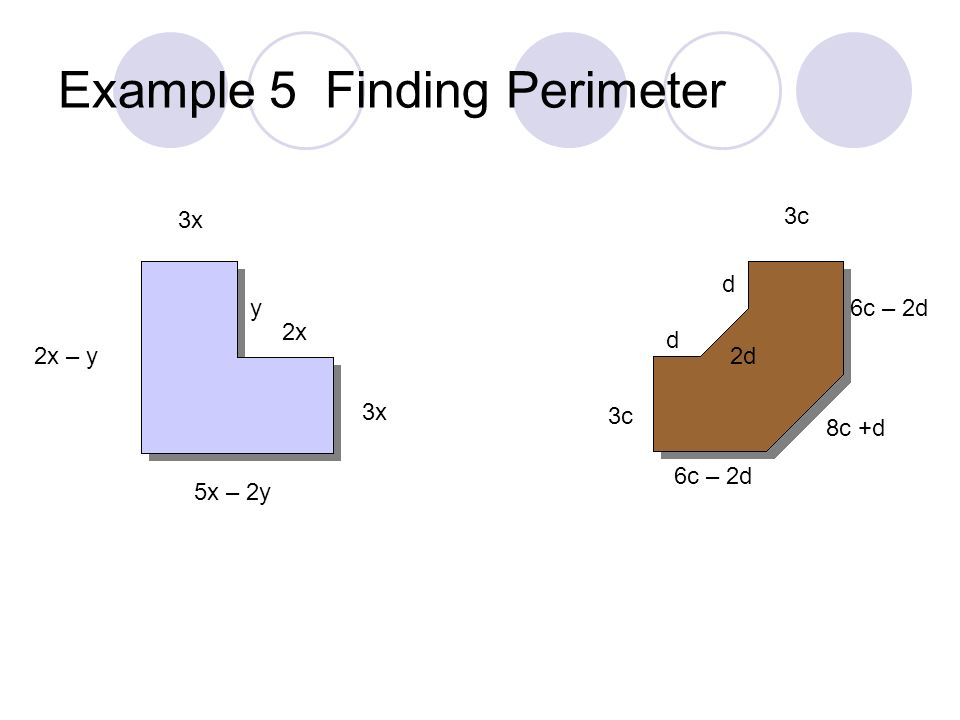 Example 5 Finding Perimeter