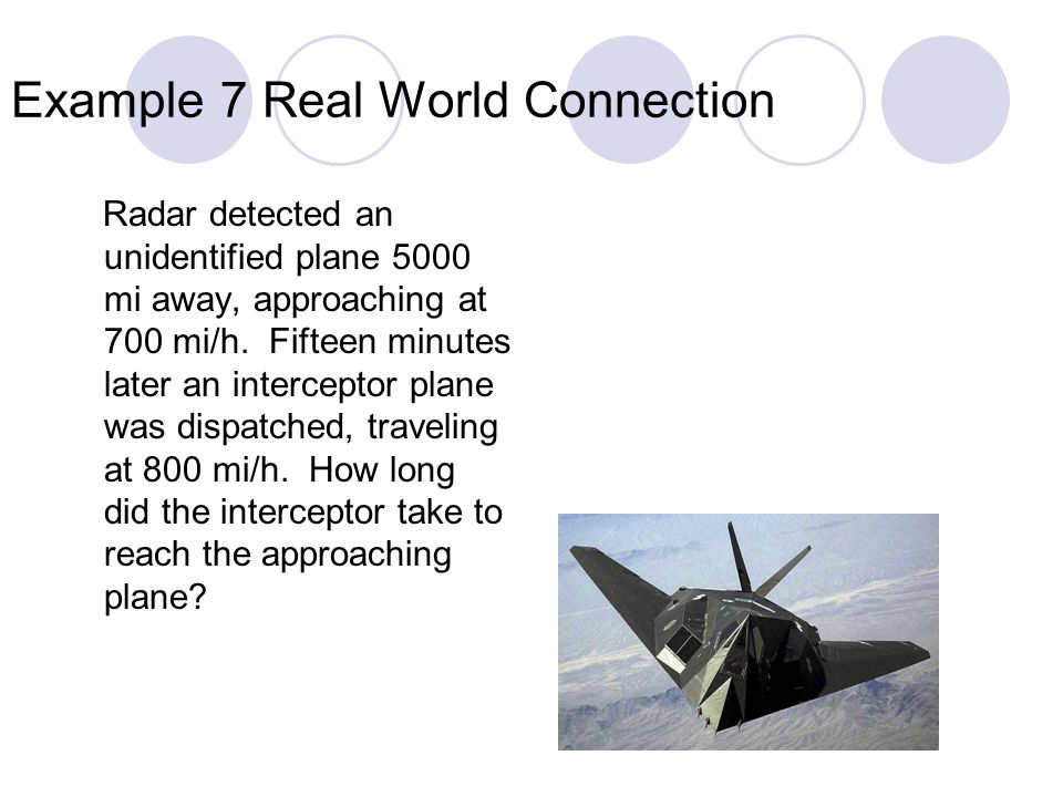 Example 7 Real World Connection