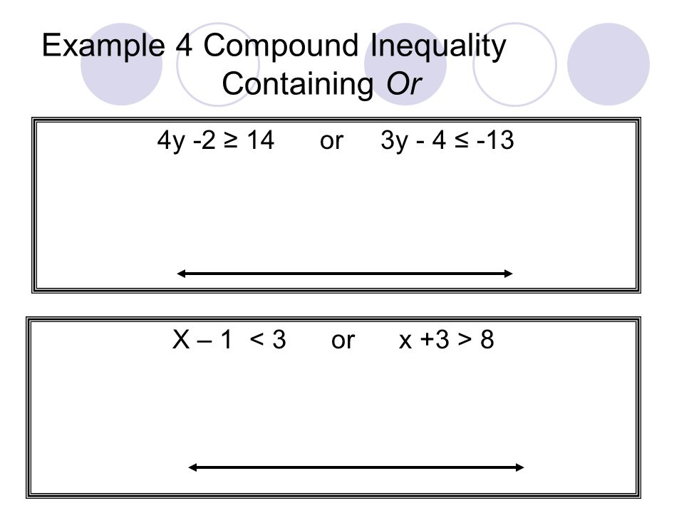 Example 4 Compound Inequality Containing Or