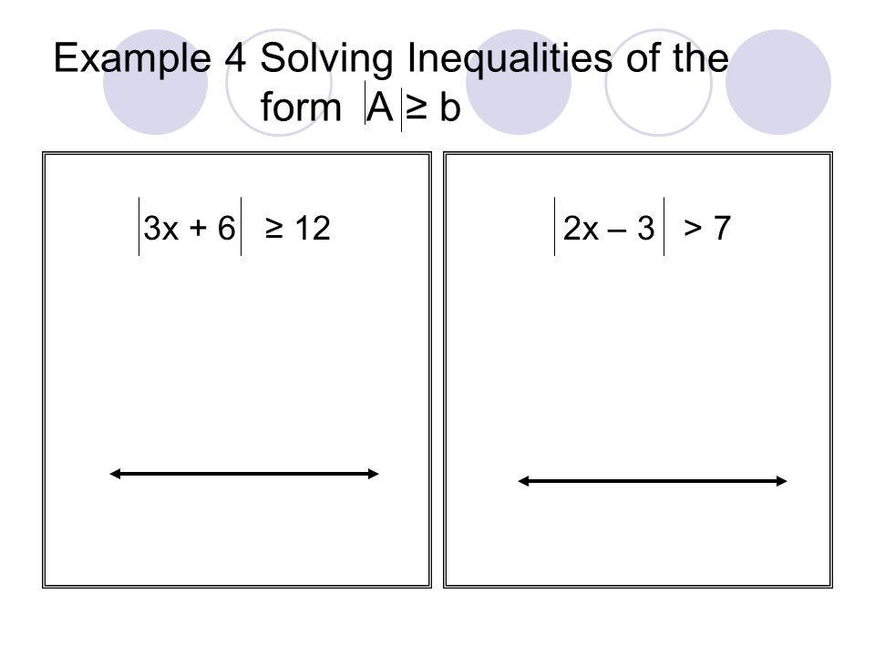Example 4 Solving Inequalities of the form A ≥ b