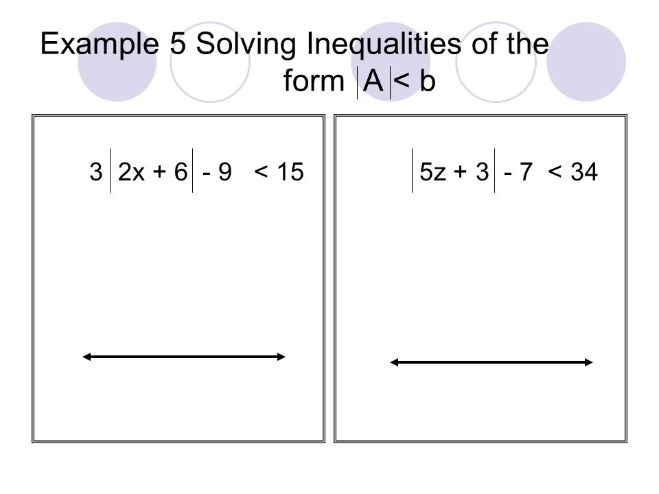 Example 5 Solving Inequalities of the form A < b