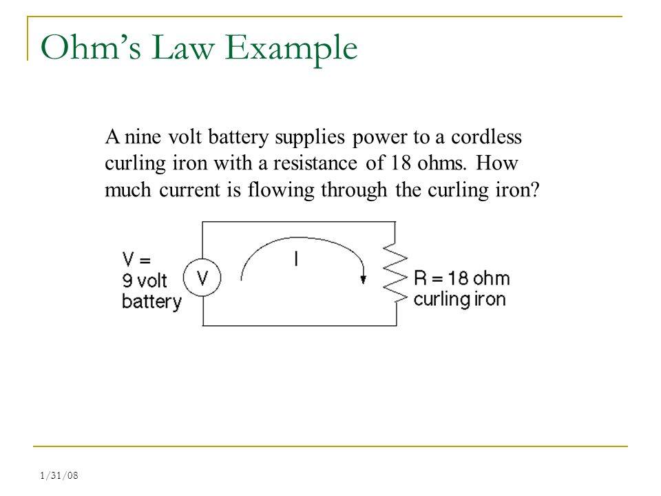 a study on ohms law and resistance with practical examples