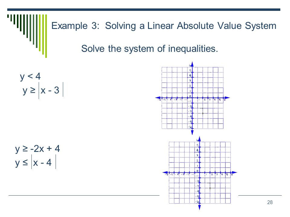 Example 3: Solving a Linear Absolute Value System