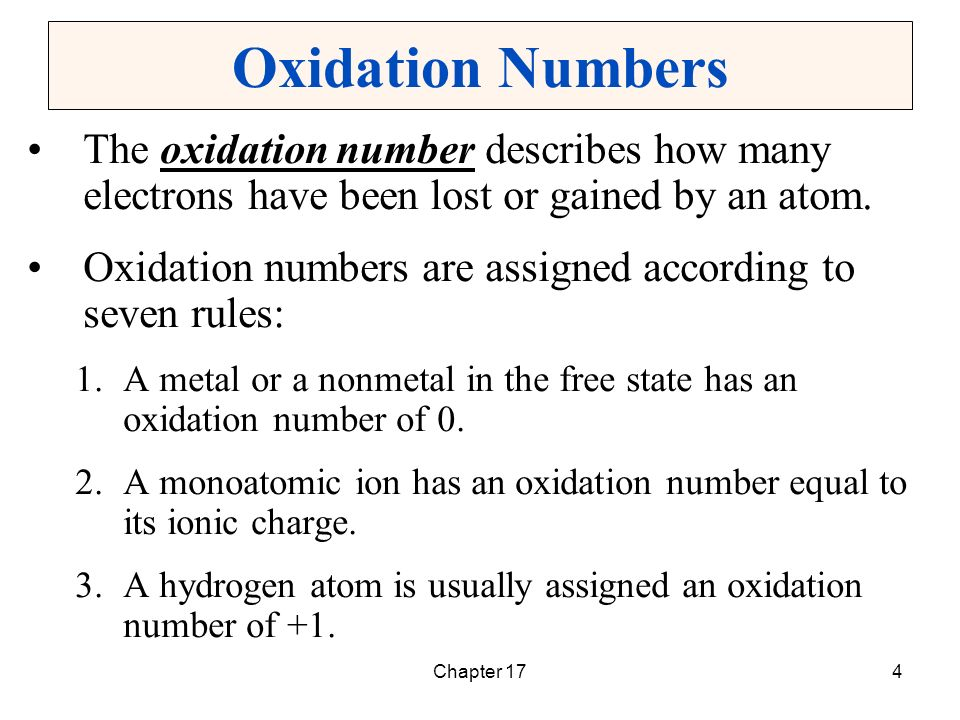 Oxidation numbers in the study of metabolism