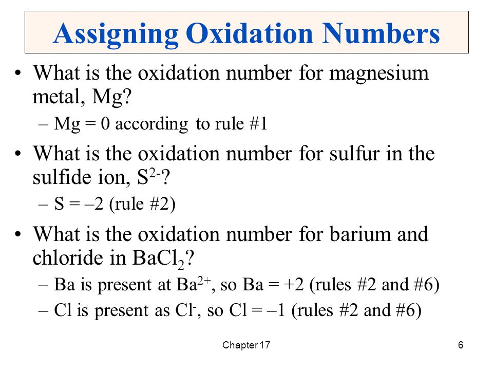 assigning oxidation numbers Oxidation and reduction are therefore best defined as follows by assigning oxidation numbers, we can pick out the oxidation and reduction halves of the reaction.