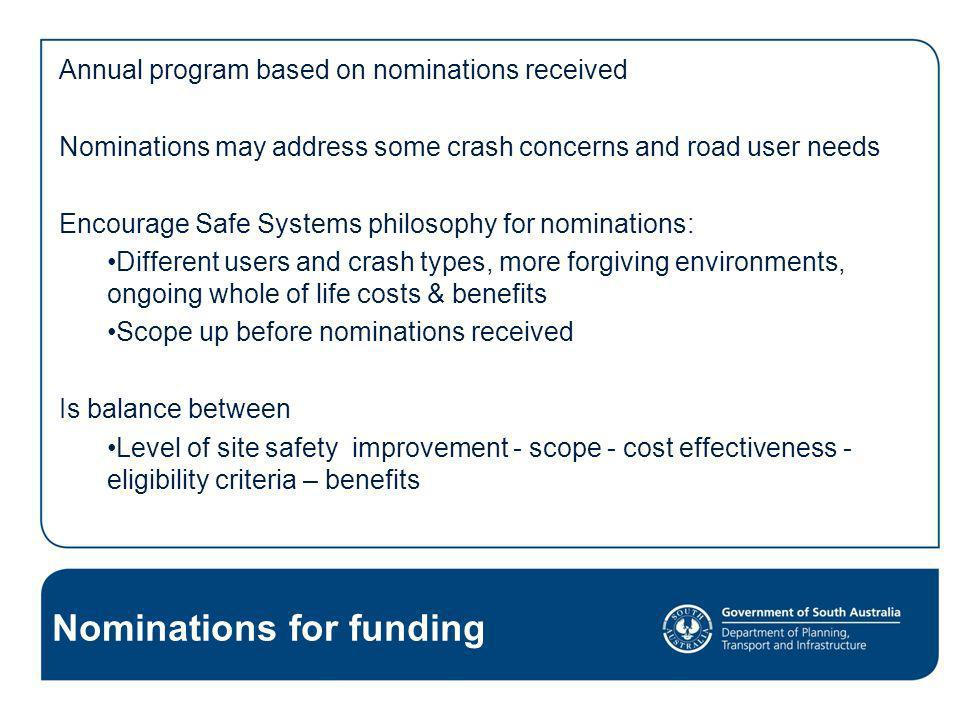 Nominations for funding