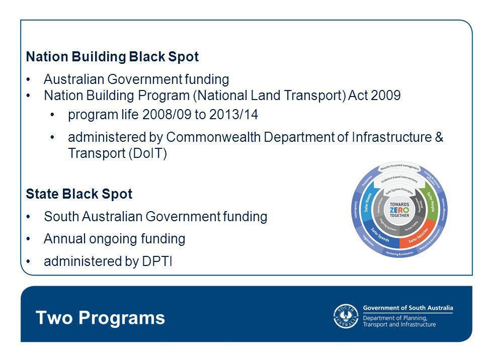 Two Programs Nation Building Black Spot Australian Government funding