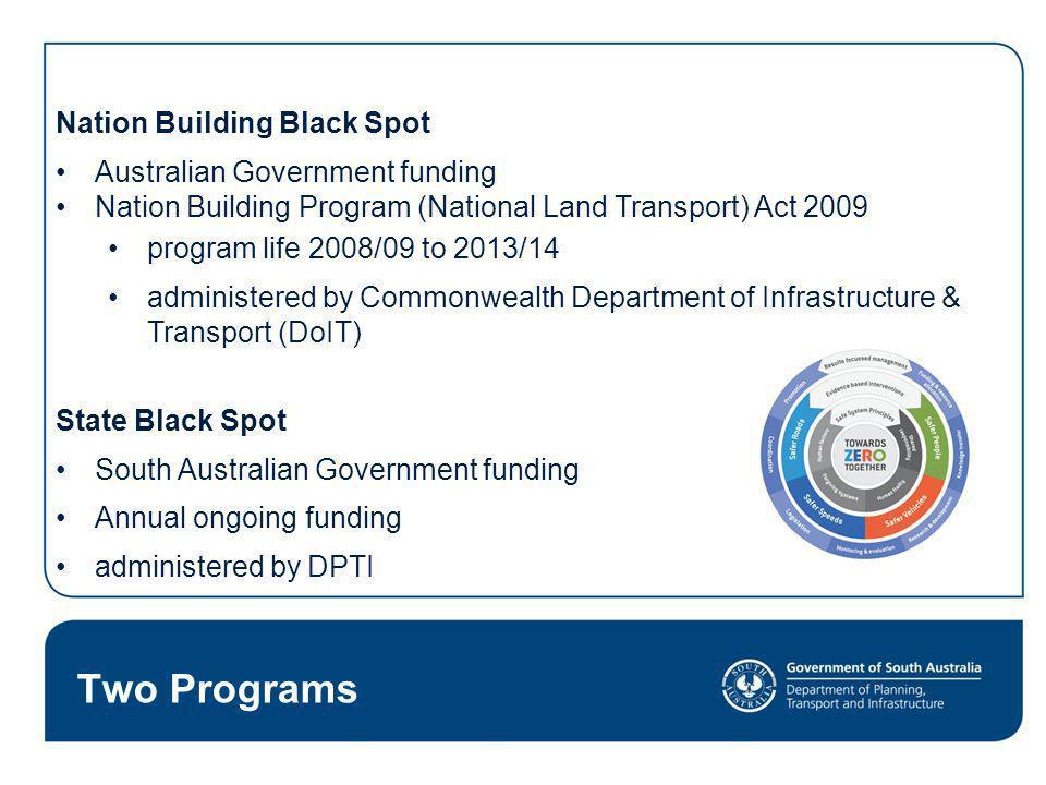 Two Programs Nation Building Black Spot Australian Government funding