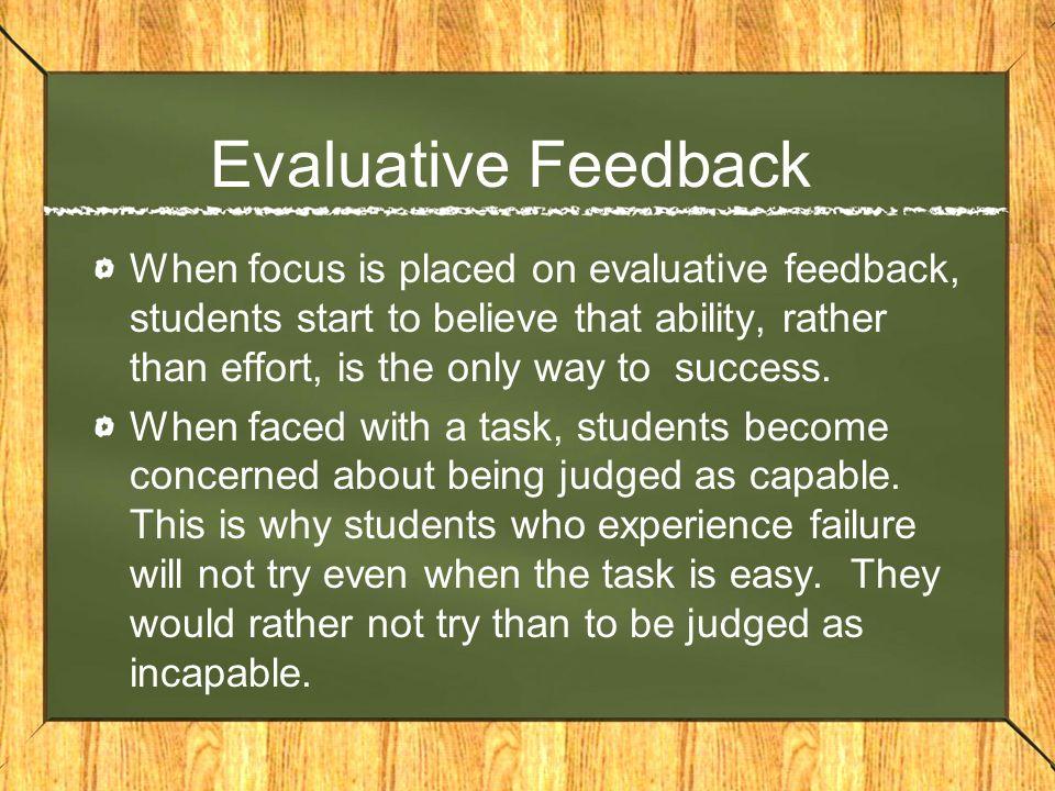 Evaluative Feedback