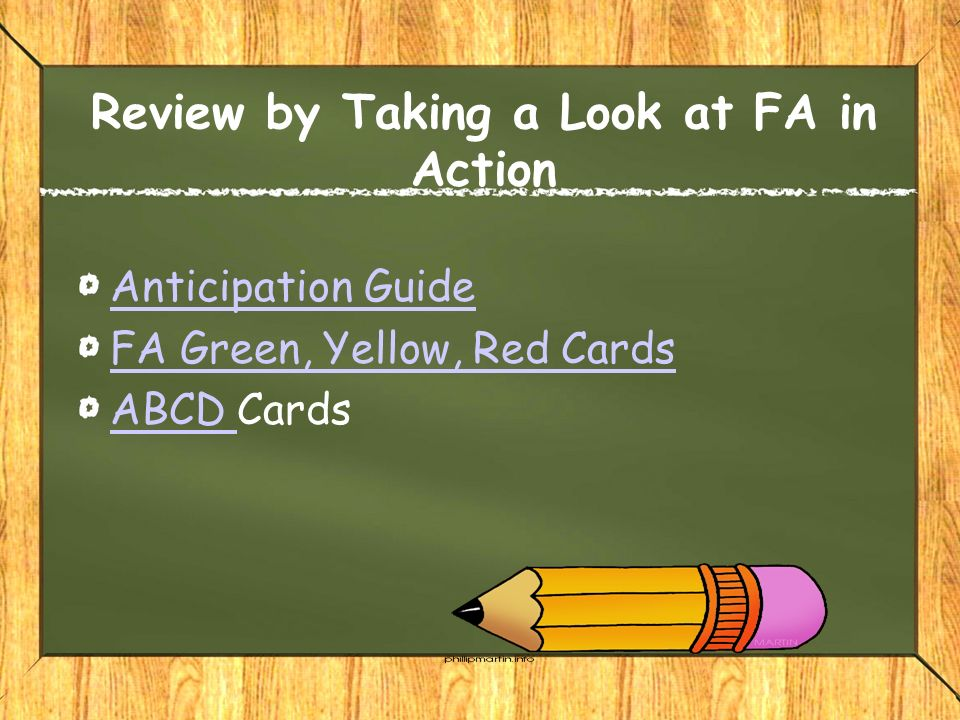 Review by Taking a Look at FA in Action