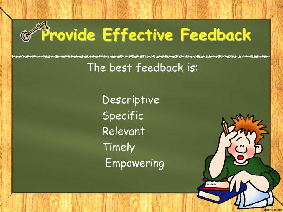 Provide Effective Feedback