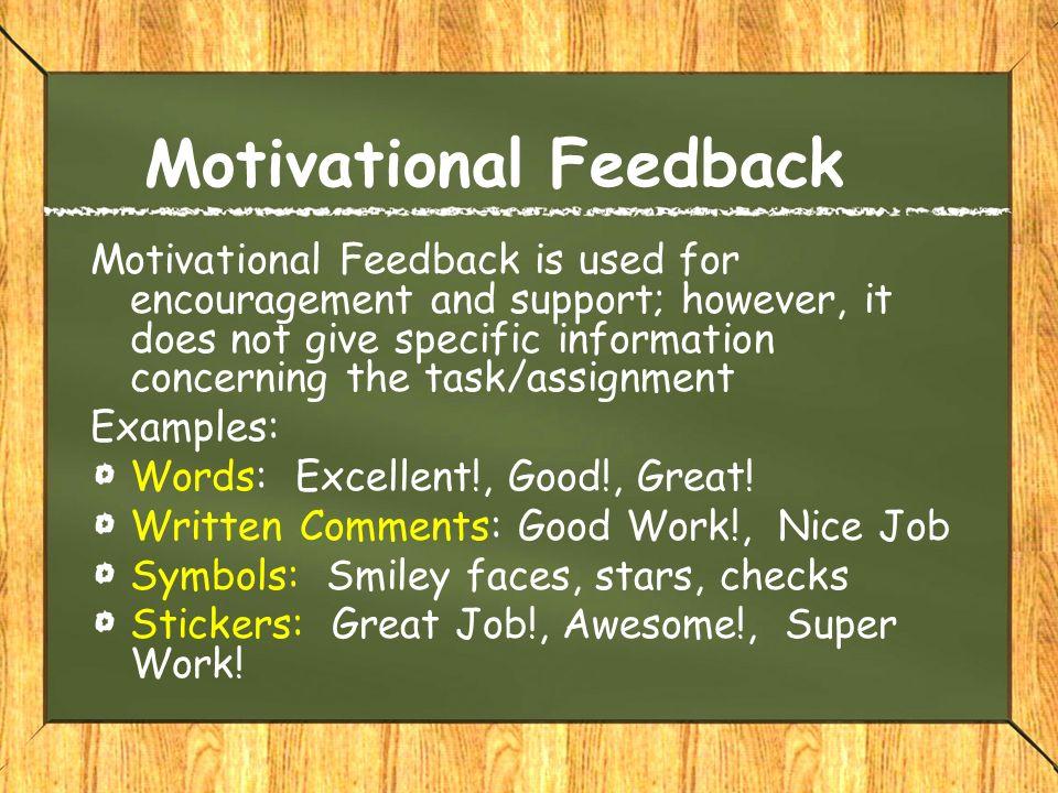 Motivational Feedback