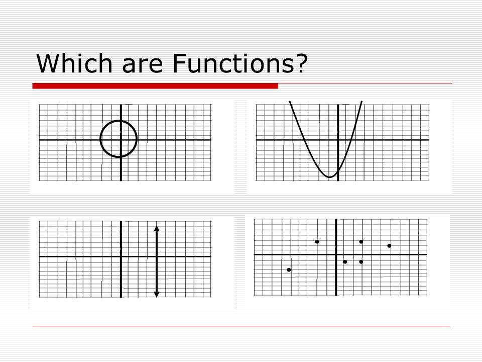 Which are Functions • • • • • •