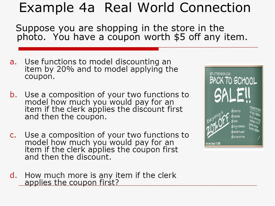 Example 4a Real World Connection
