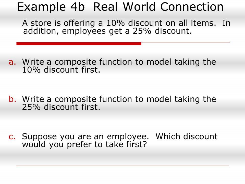 Example 4b Real World Connection
