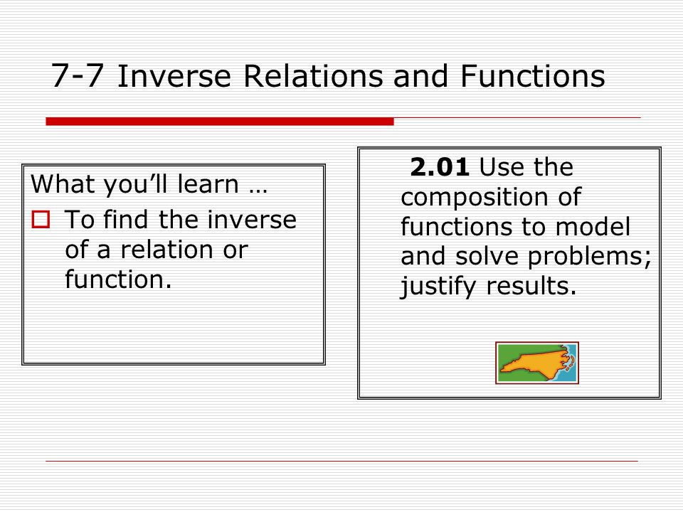 7-7 Inverse Relations and Functions