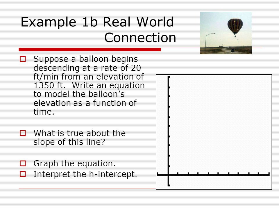 Example 1b Real World Connection