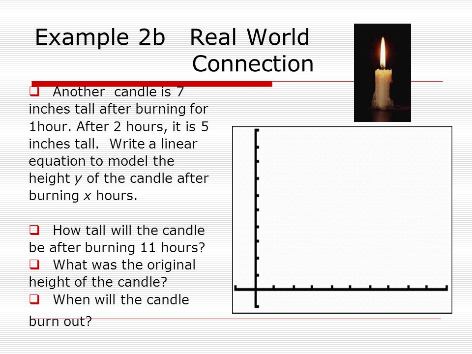 Example 2b Real World Connection