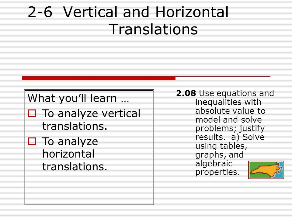 2-6 Vertical and Horizontal Translations