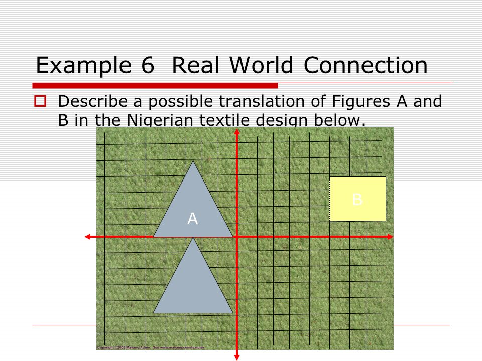 Example 6 Real World Connection