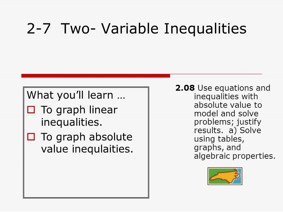 2-7 Two- Variable Inequalities