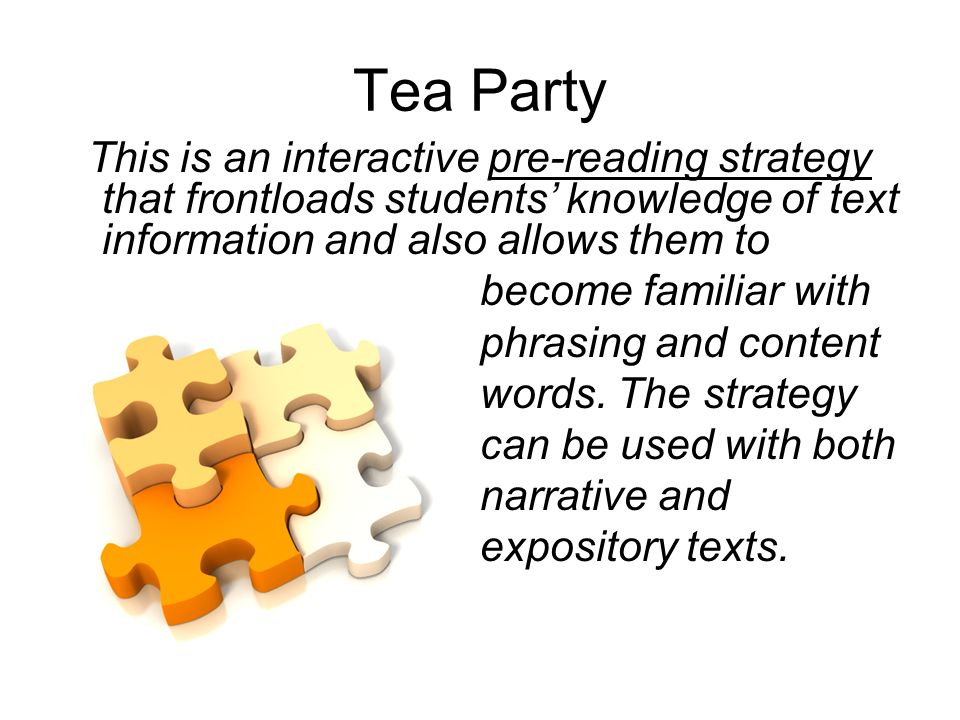 Tea Party become familiar with phrasing and content