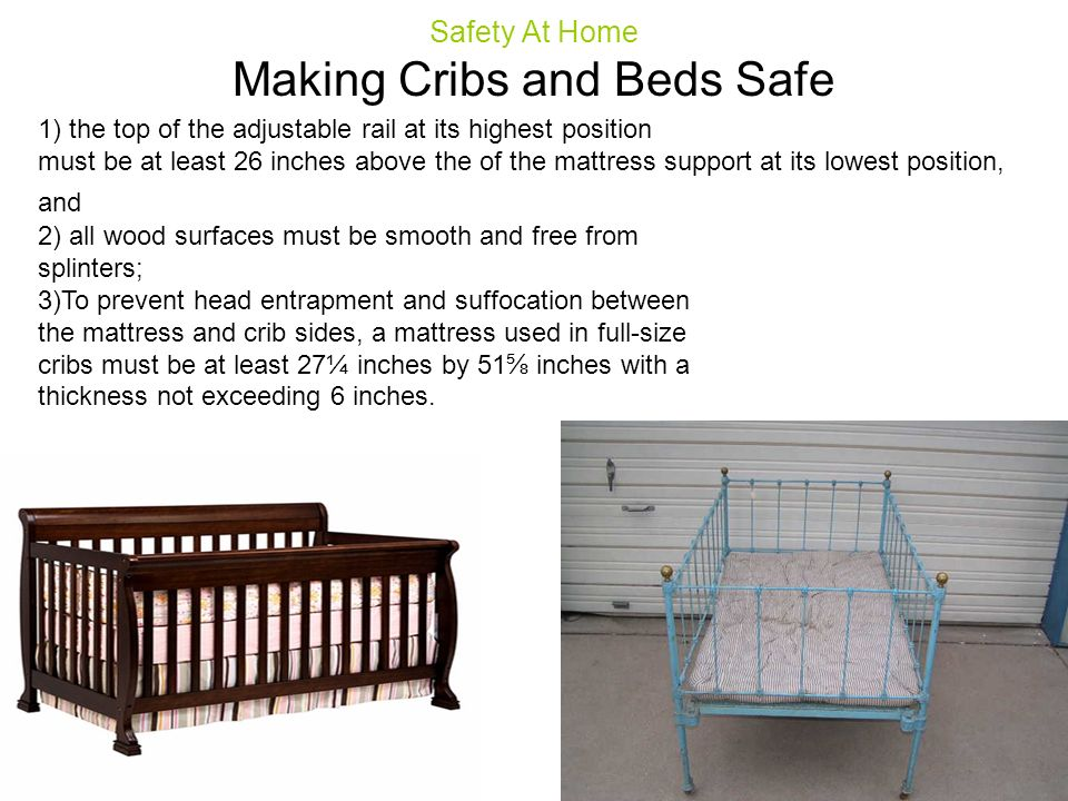 Making Cribs and Beds Safe