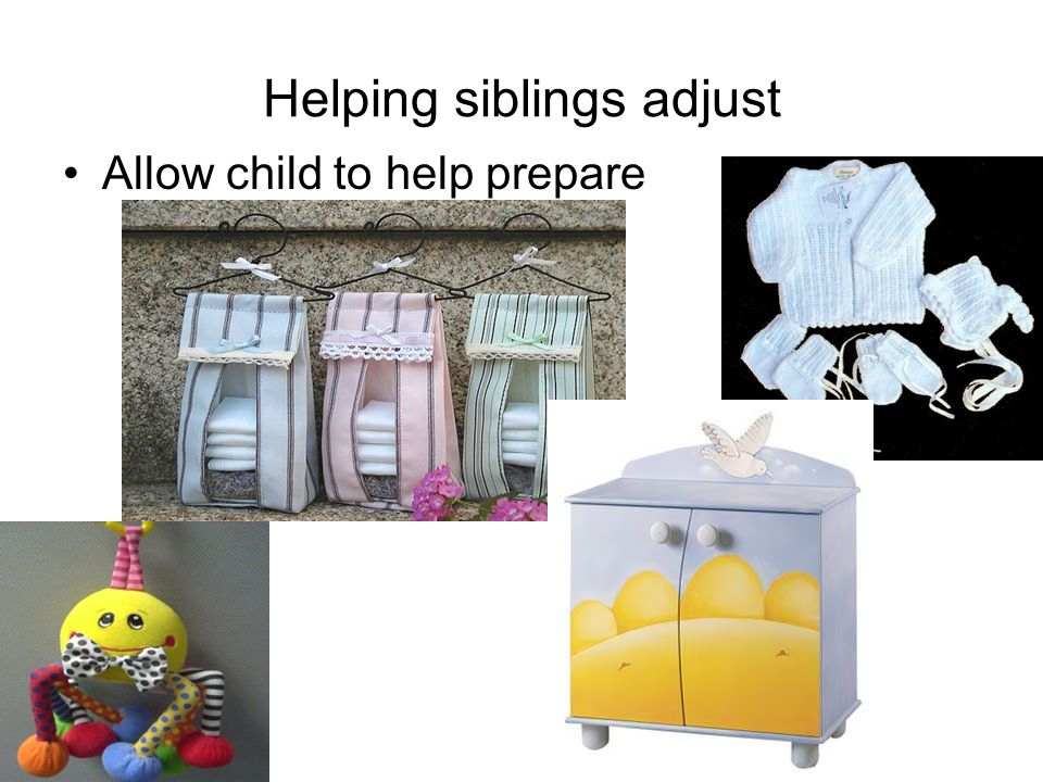 Helping siblings adjust