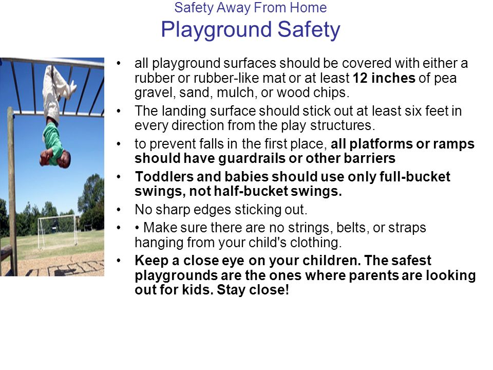 Safety Away From Home Playground Safety