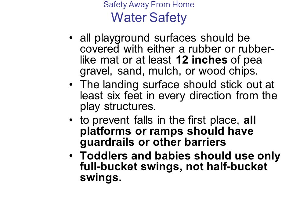 Safety Away From Home Water Safety