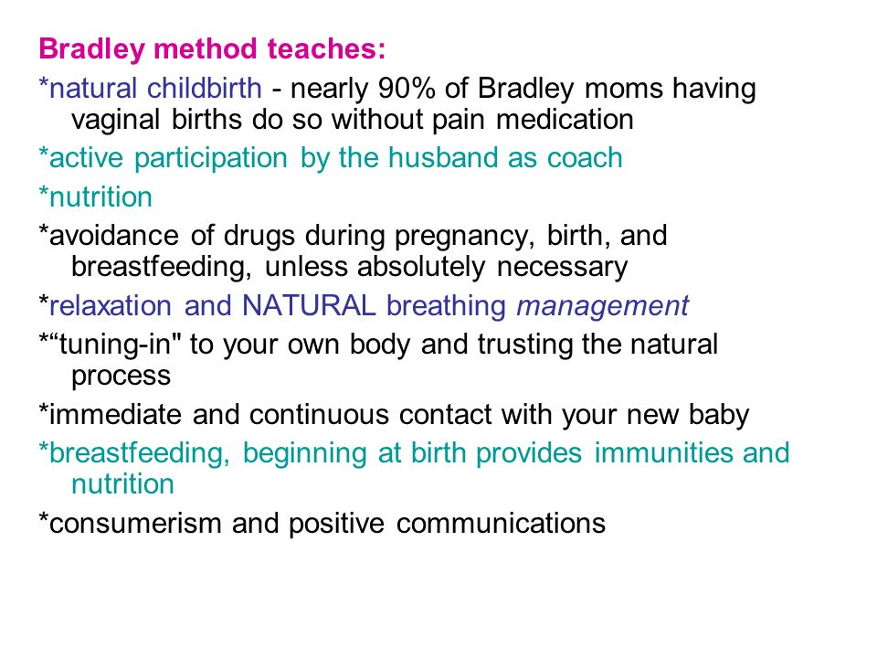 Bradley method teaches: