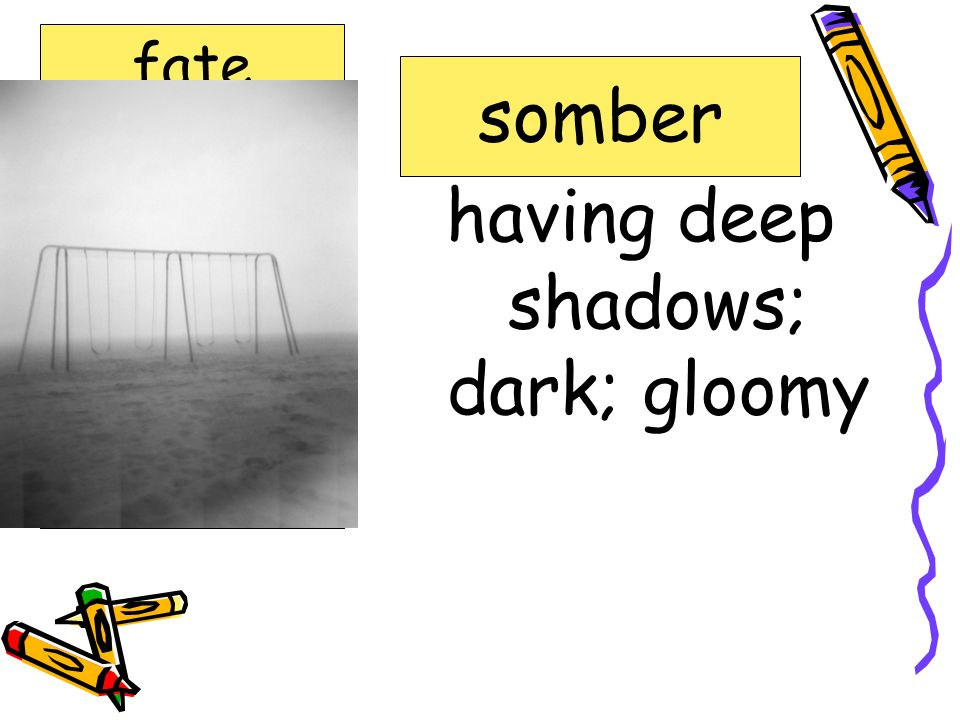 having deep shadows; dark; gloomy