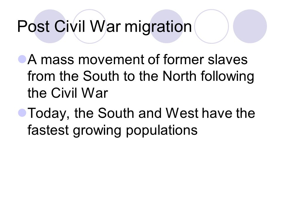 Post Civil War migration